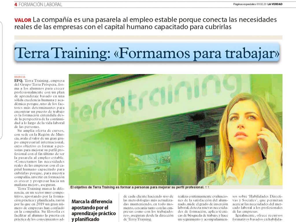 Terra Training, formamos para trabajar